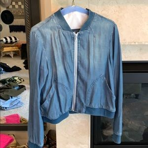 Cloth and stone denim bomber jacket